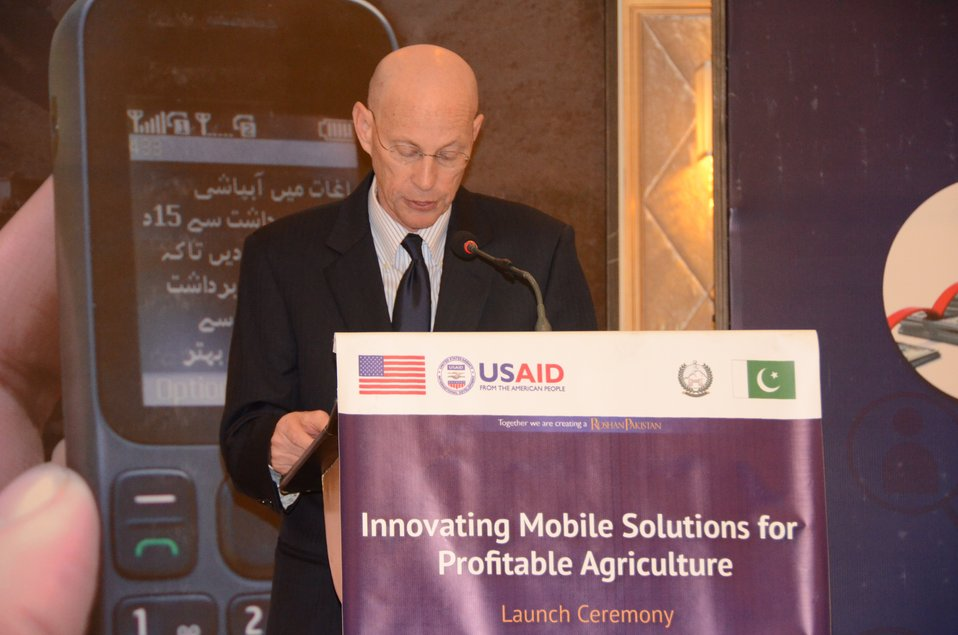 Gregory Gottlieb Mission Director USAID addressing
