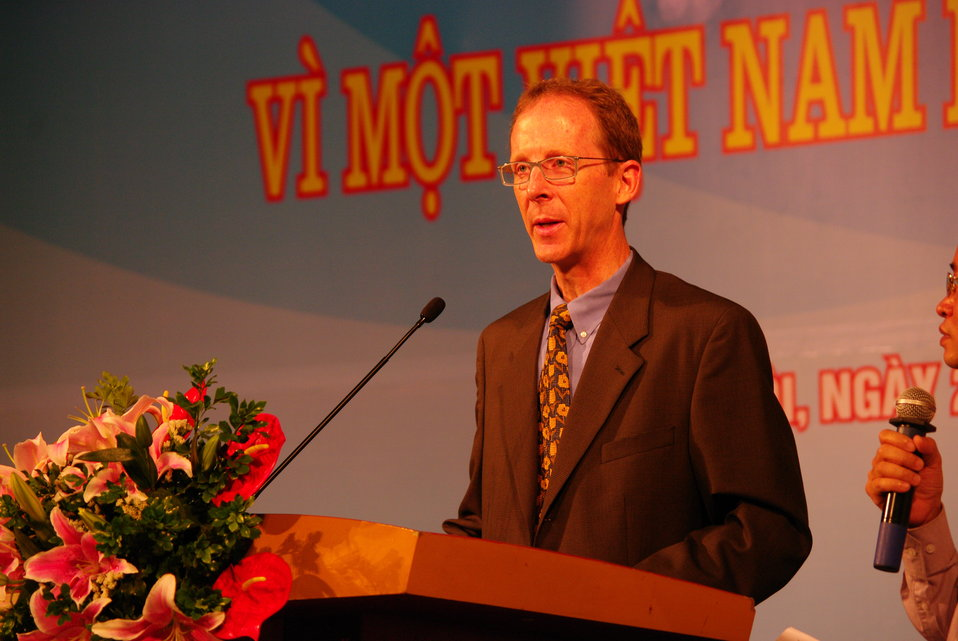 USAID Mission Director Joakim Parker speaks at Vietnam's World TB Day Event in Hanoi