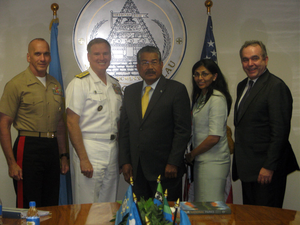 Assistant Secretary Campbell Poses for a Photo With Palau President Toribiong