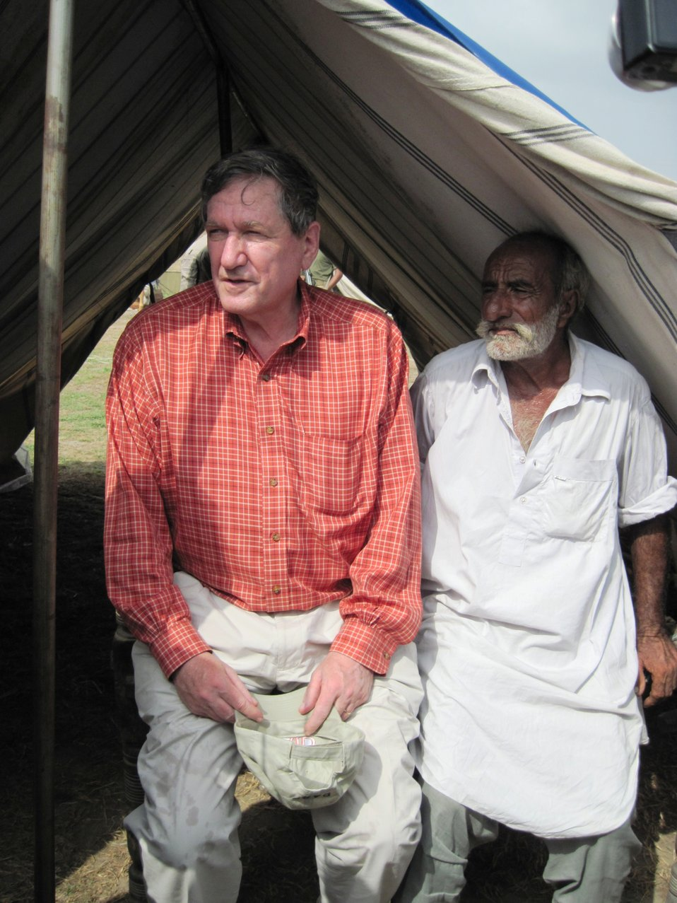 Special Representative Holbrooke Speaks With a Man From Sujuwal