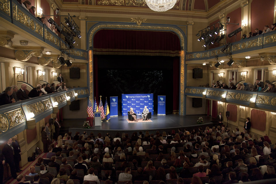Secretary Clinton Holds a Town Hall