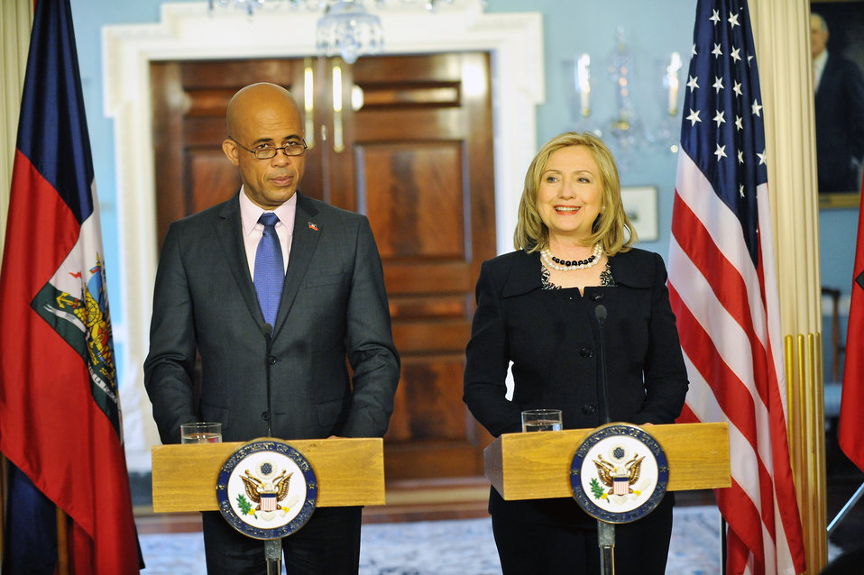 Secretary Clinton and Haitian President-Elect Martelly Hold a Joint Press Conference