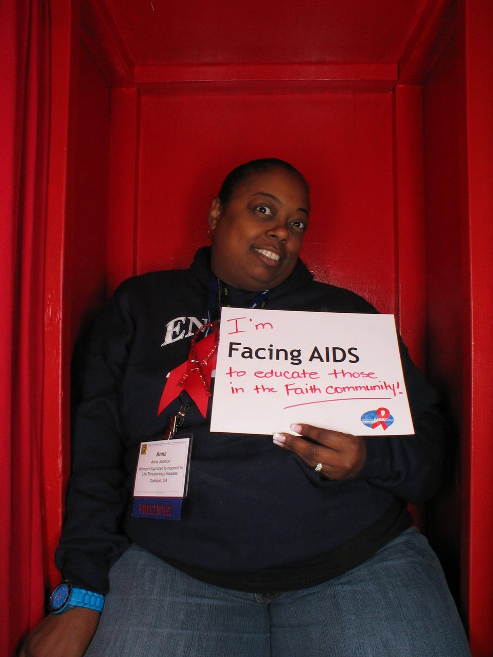 I'm Facing AIDS to educate those in the faith community.
