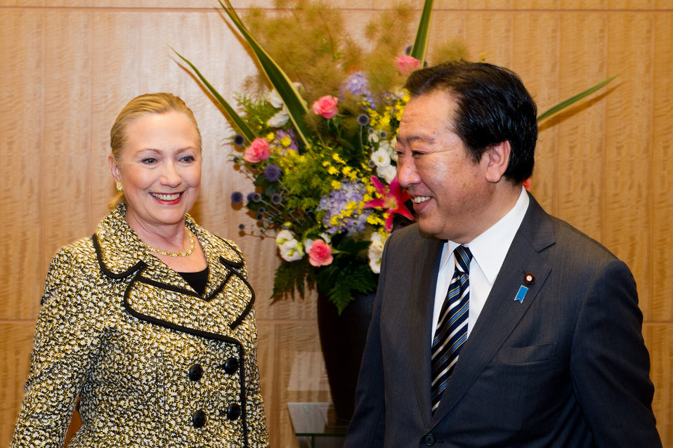 Secretary Clinton With Japanese Prime Minister Noda