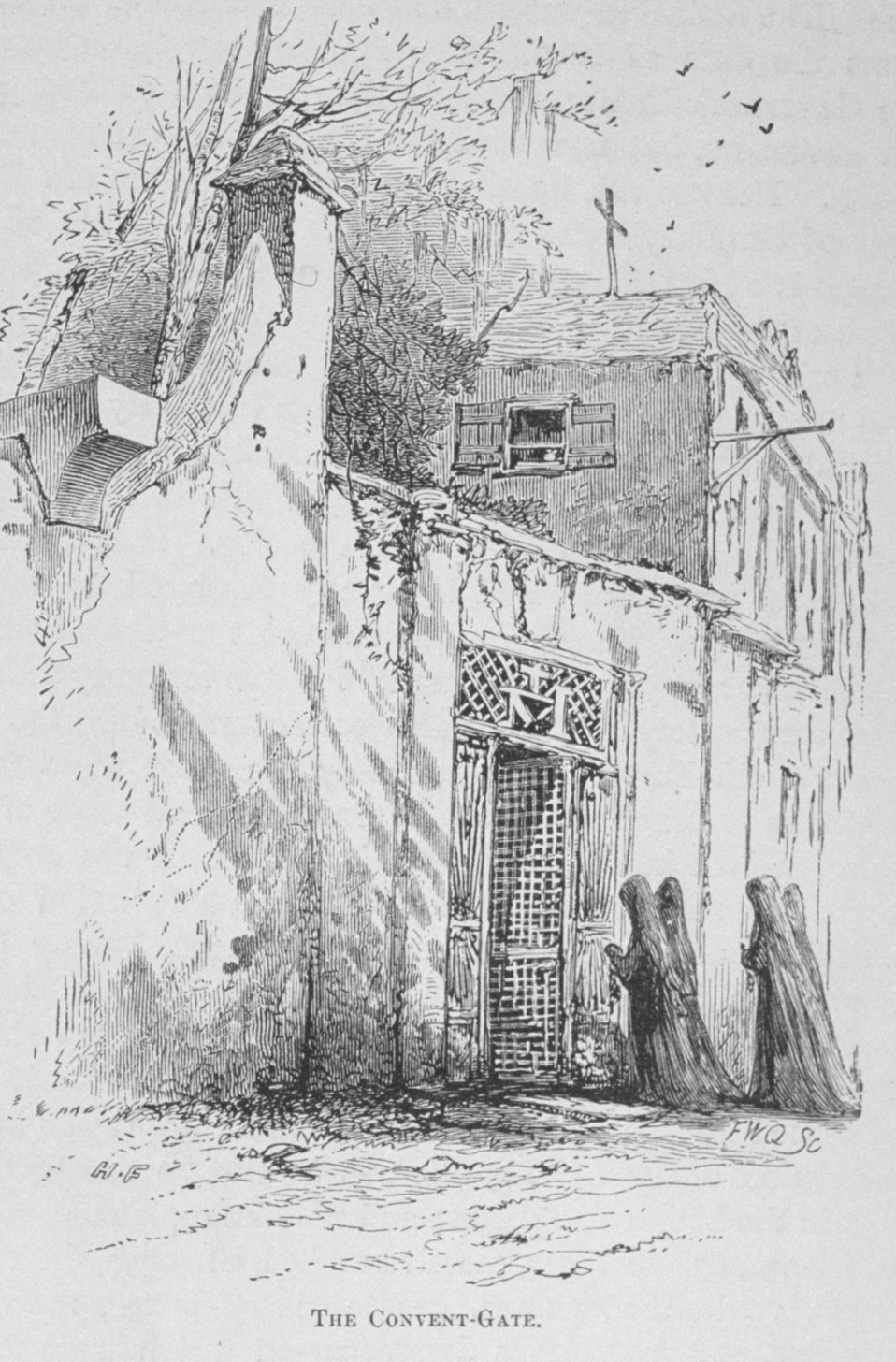 The Convent Gate -  in 'Florida for Tourists, Invalids, and Settlers'  by George M. Barbour, 1881.  Library Call No. F316 .B23 1881. At St. Augustine.