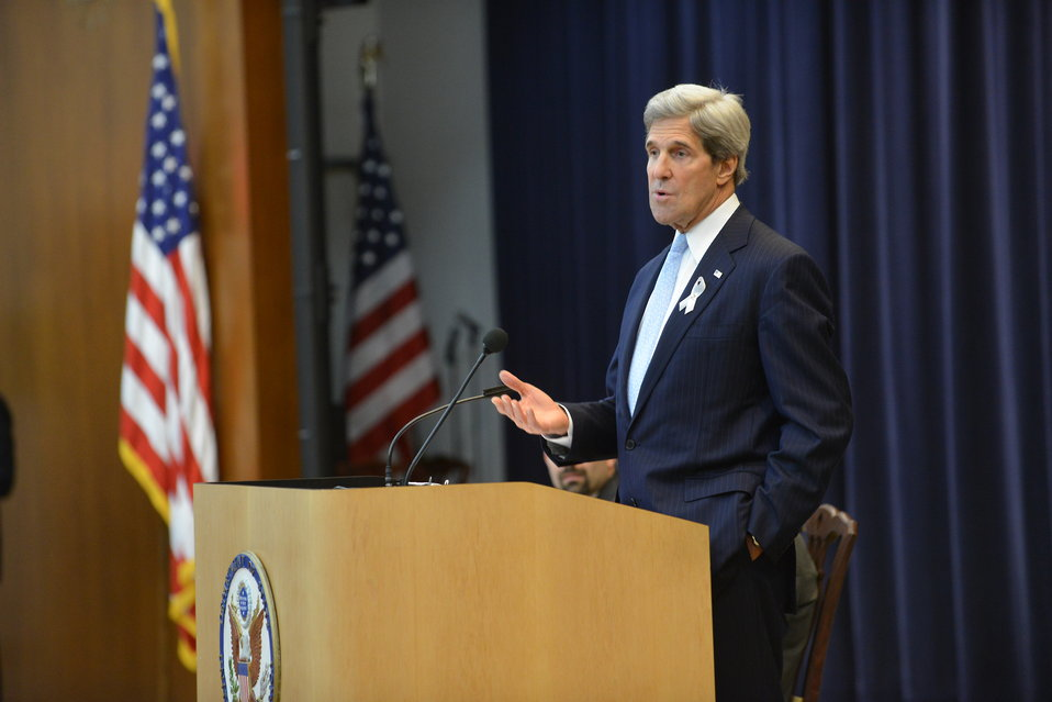 Secretary Kerry Delivers Remarks to the 171st FS Generalist Class