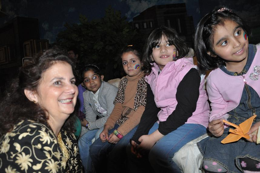 U.S. Consul General Nina Fite with kids.