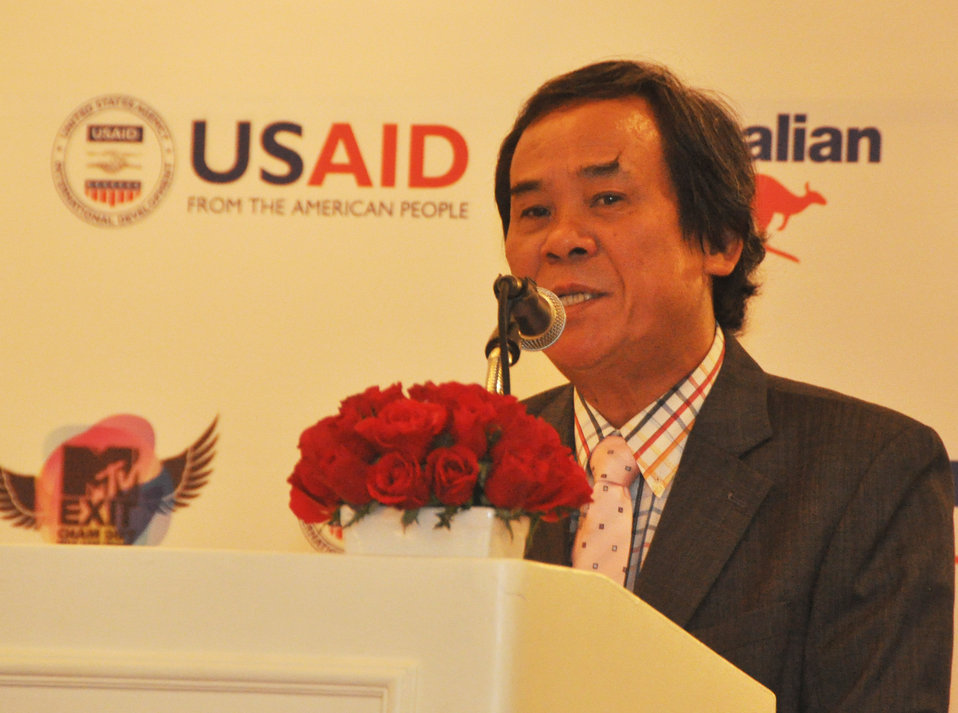 Dr. Nguyen Van Tinh, Director General, International Cooperation Department, Ministry of Culture, Sports and Tourism at the MTV Exit press launch