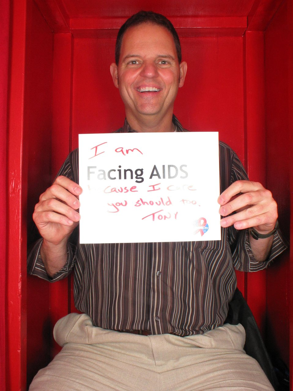 I am Facing AIDS because I care and you should too!