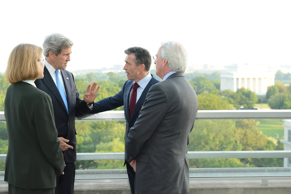 Secretary Kerry Speaks With NATO Secretary General Rasmussen