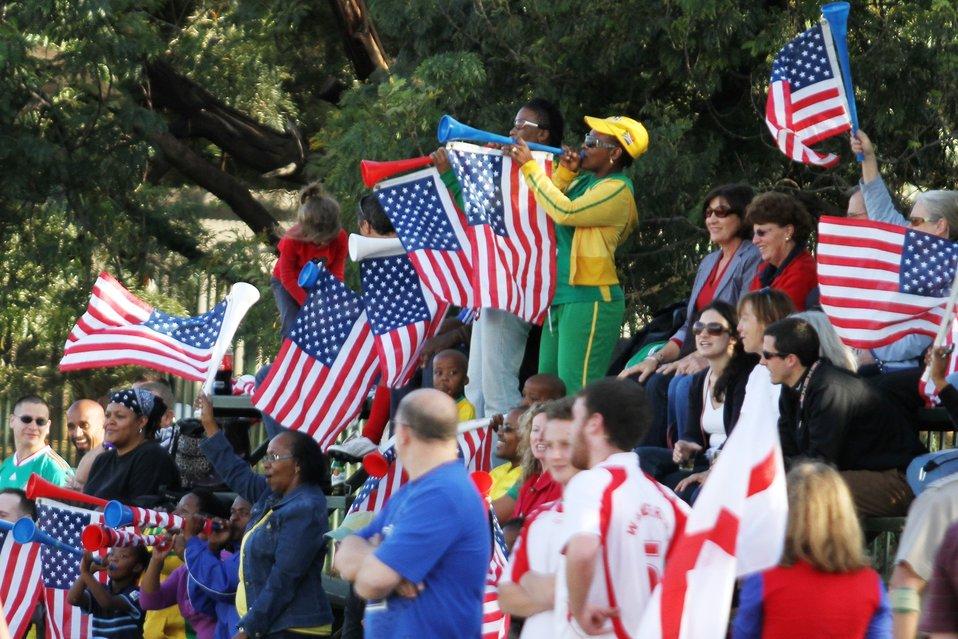 U.S. Embassy Pretoria Staff Fans Cheer on Their Team