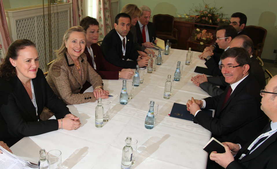 Secretary Clinton Holds a Bilateral Meeting With Turkish Foreign Minister Davutoglu