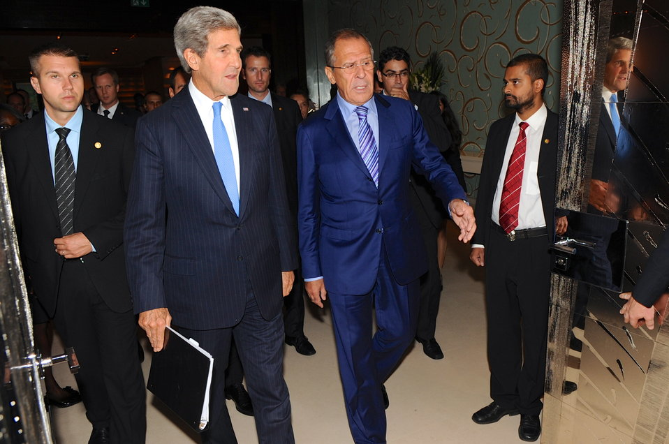 Secretary Kerry, Russian Foreign Minister Lavrov Prepare to Meet News Media