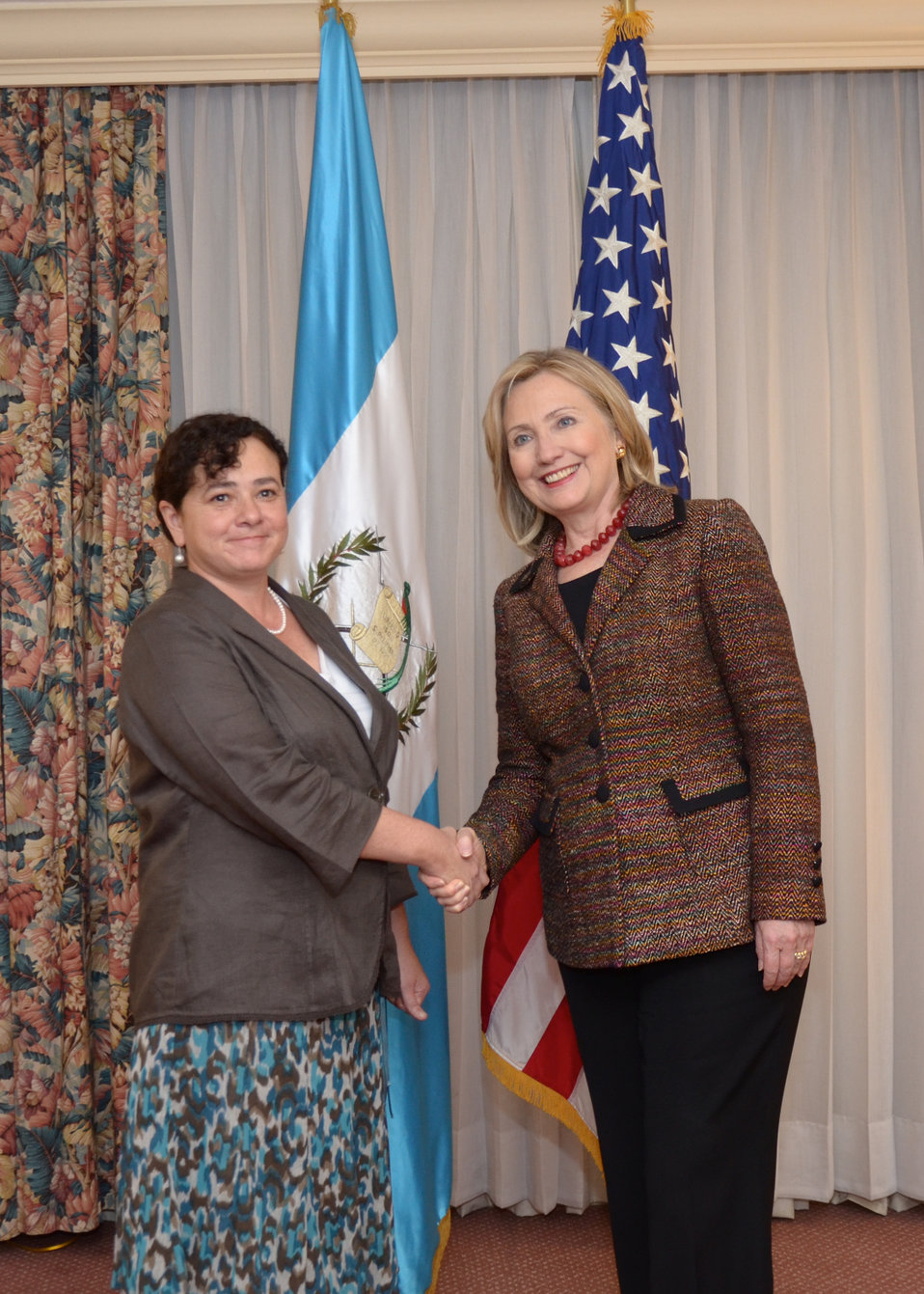 Secretary Clinton Is Greeted By Guatemalan Attorney General Claudia Paz y Paz