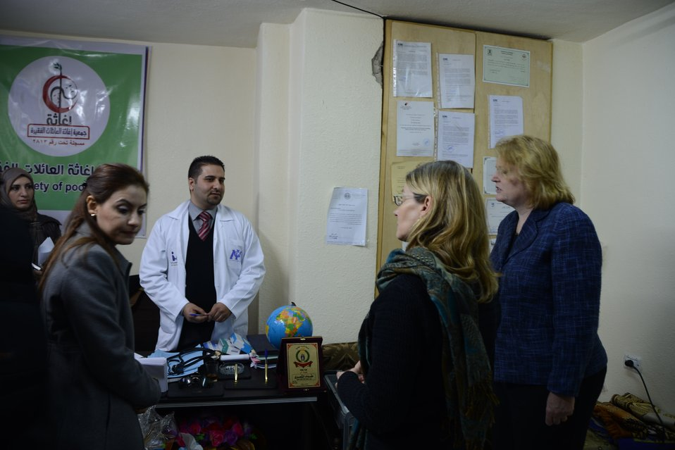 Assistant Secretary Richard and USAID Assistant Administrator Lindborg Visit a Medical Clinic