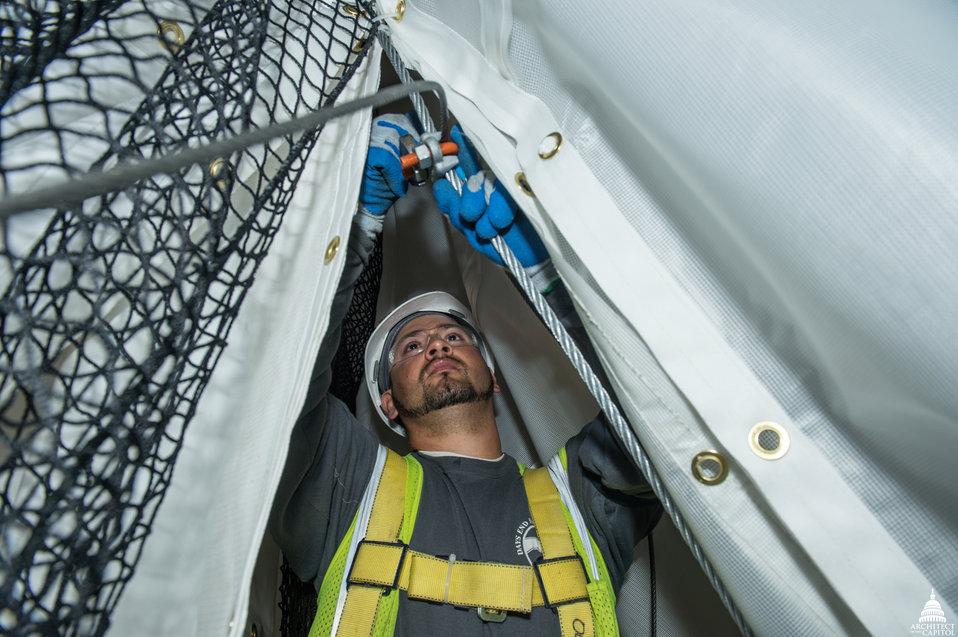 Capitol Dome Restoration - Rotunda Interior Protection