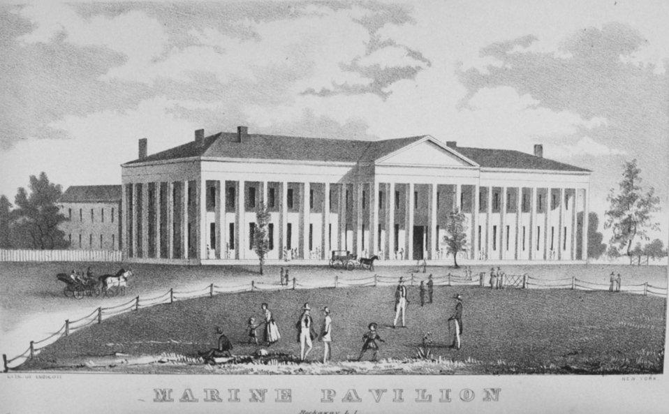 The Marine Pavilion at Rockaway, Long Island.