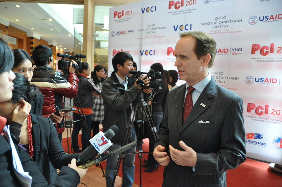 USAID Mission Director Francis Donovan at the Provincial Competitiveness Index 2011 Launch: