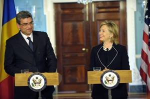 Secretary Clinton and Romanian Foreign Minister Teador Baconschi Deliver Remarks
