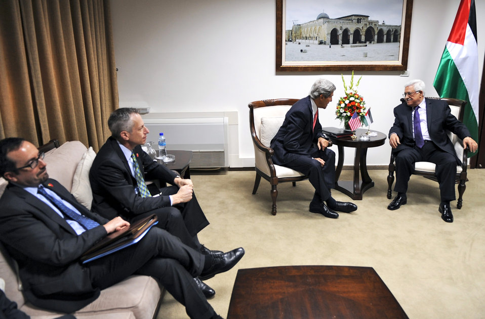 Secretary Kerry Meets With Palestinian President Abbas