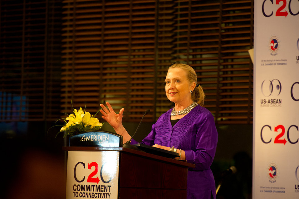 Secretary Clinton Delivers Remarks at U.S.-ASEAN Business Forum and Dinner
