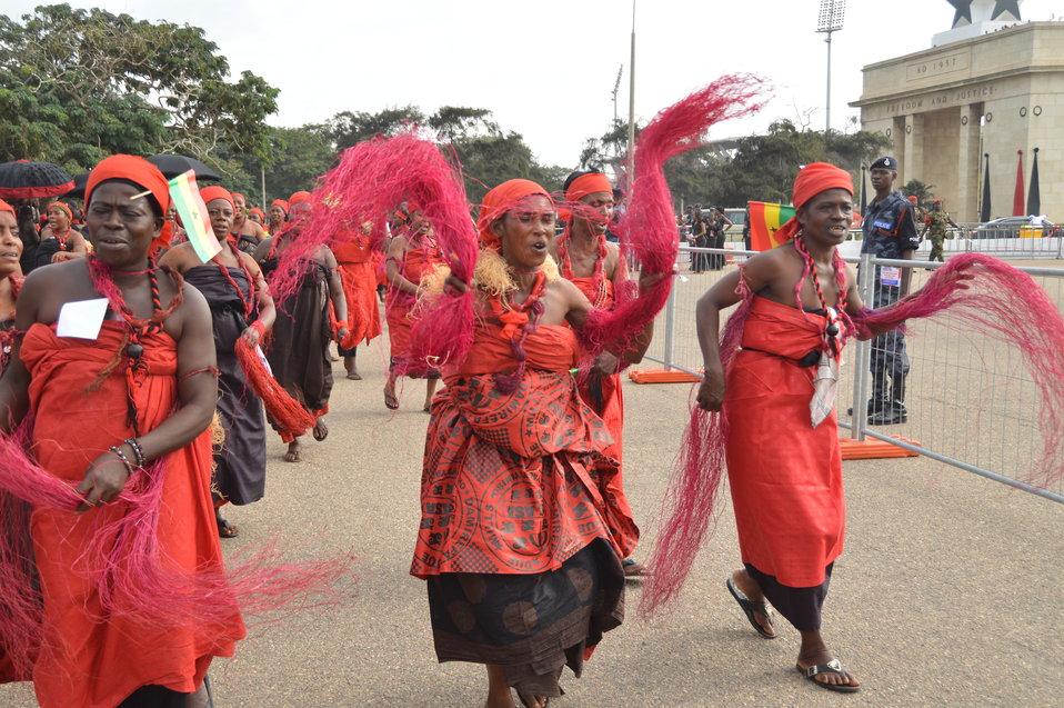 Ghanaian Women Mourn the Loss of President Mills