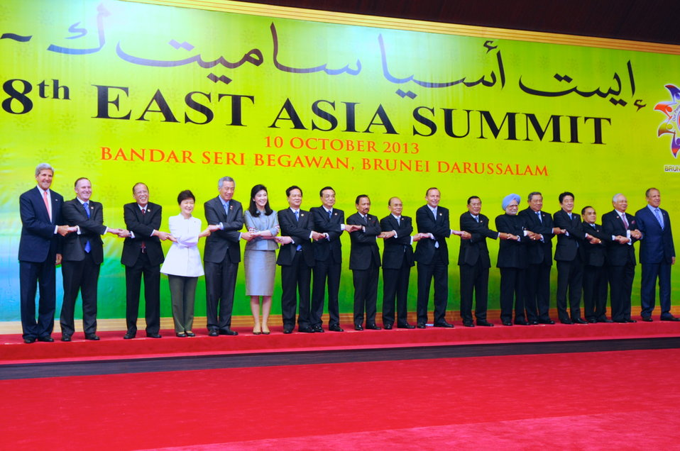 Secretary Kerry Poses With Other Attendees of East Asia Summit