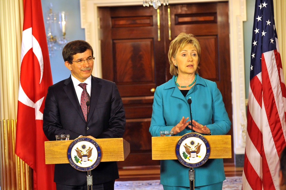 Secretary Clinton Meets With Turkish Foreign Minister