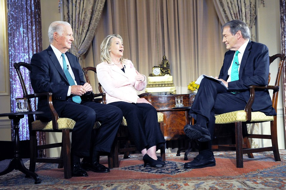 Secretary Clinton and Former Secretary Baker With Charlie Rose
