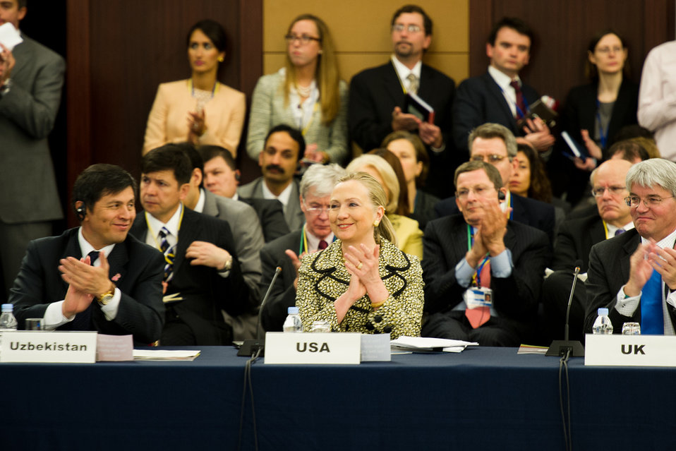 Secretary Clinton Participates in the Tokyo Conference on Afghanistan