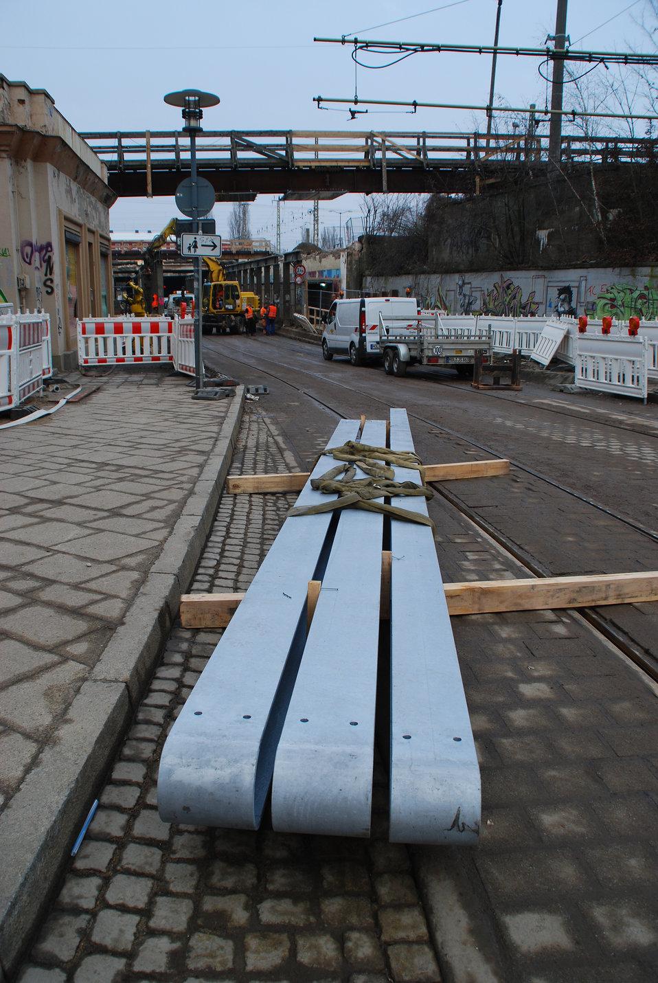 Abriss Bahnhofstunnel Frankfurt (Oder)