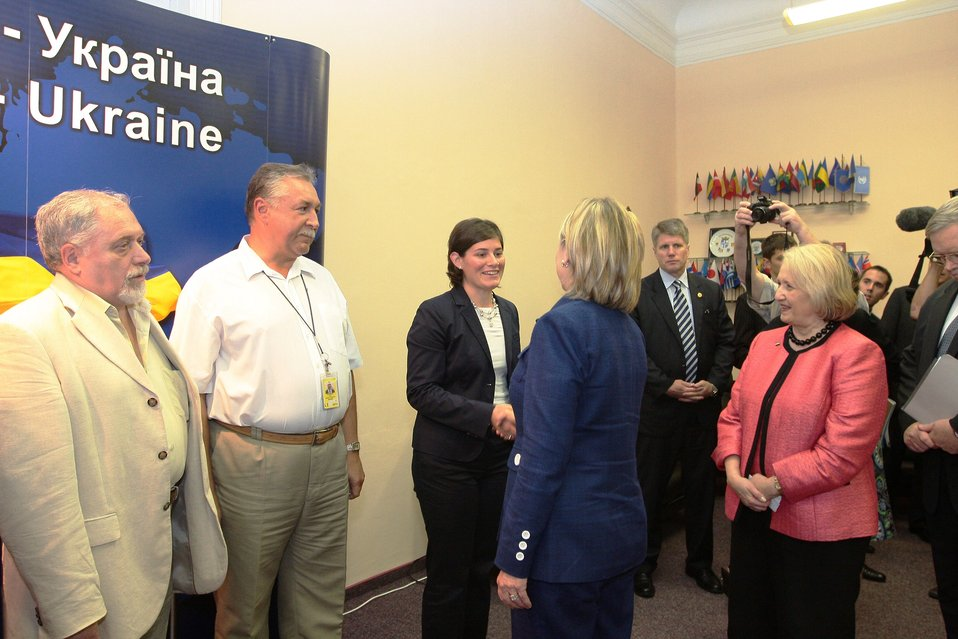 Secretary Clinton Meets With Members of Civil Society and NGO Representatives in Ukraine