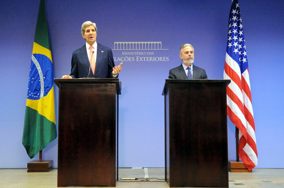 Secretary Kerry and Brazilian Foreign Minister Patriota Address Reporters