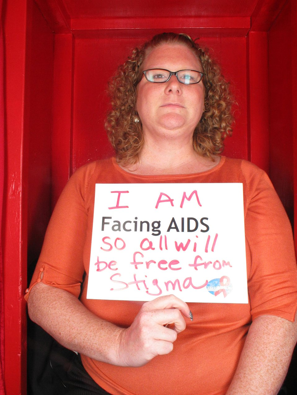 I am Facing AIDS so all will be free from stigma.
