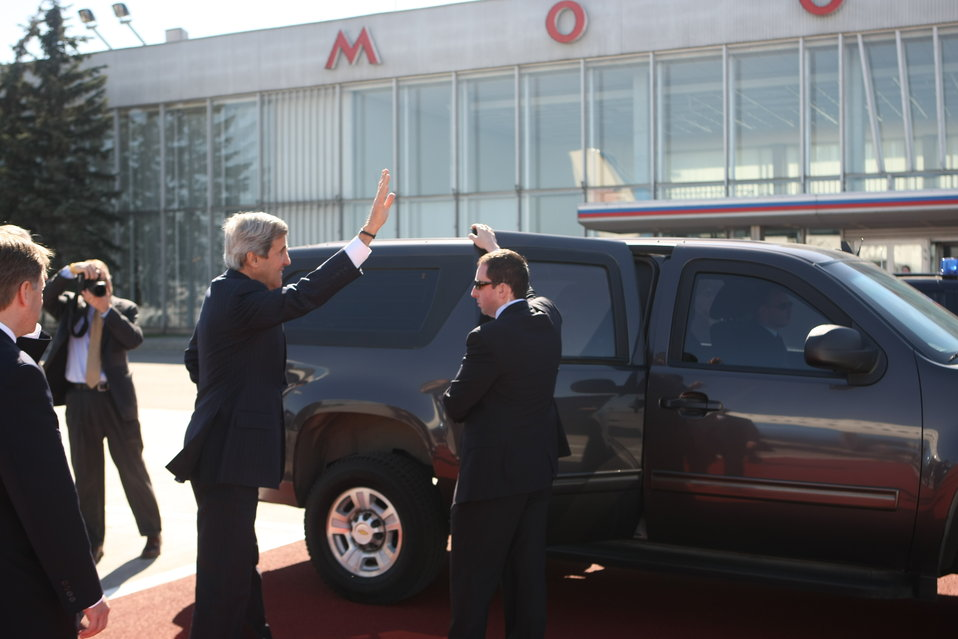 Secretary Kerry Heads to His Meetings With Russian Officials