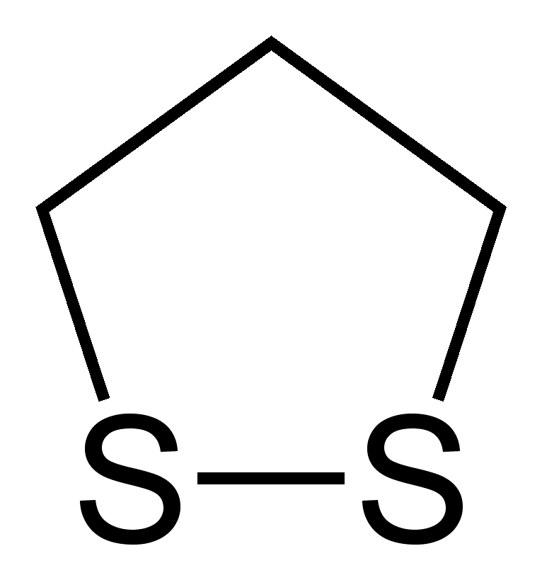 Skeletal formula of 1,2-dithiolane