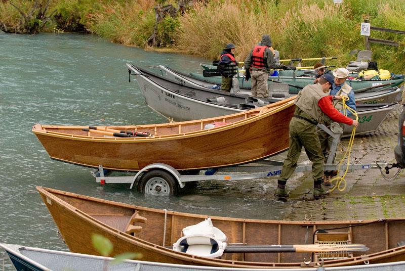 Launching drift boats on Kenai River, AK during the salmon run. 2006 USEPA Photo by Eric Vance