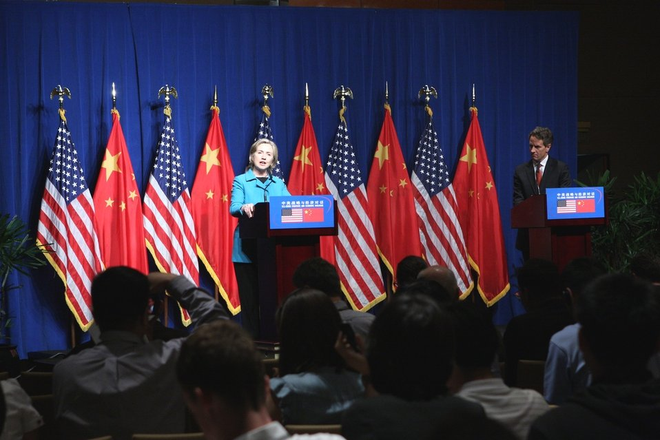 Secretary Clinton Delivers Remarks at Joint Press Availability