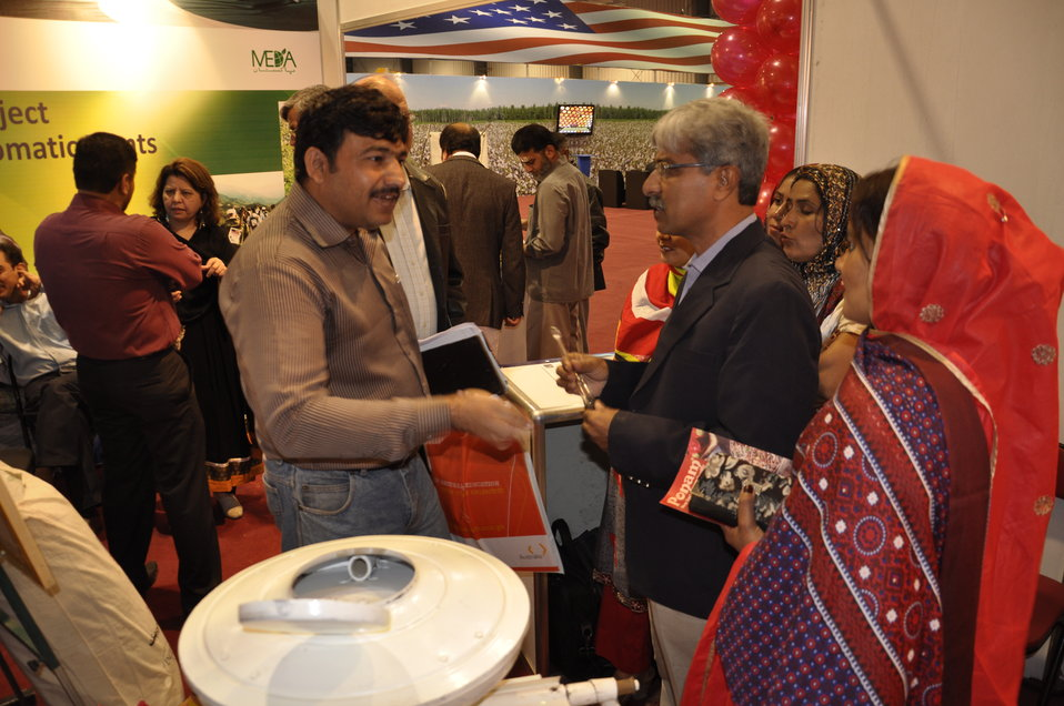 Public taking interest in the USAID's Dairy initiative at the Entrepreneurs Stall