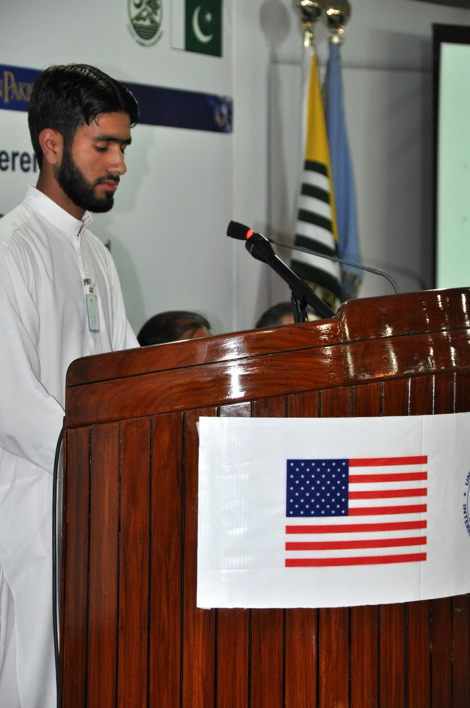 The United States Ambassador to Pakistan, Richard Olson broke ground for a U.S. funded construction of a new Faculty of Education building in Muzaffarabad, AJK.  05
