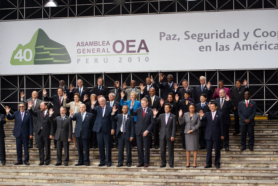Secretary Clinton Attends 40th OAS Assembly Official Ministerial