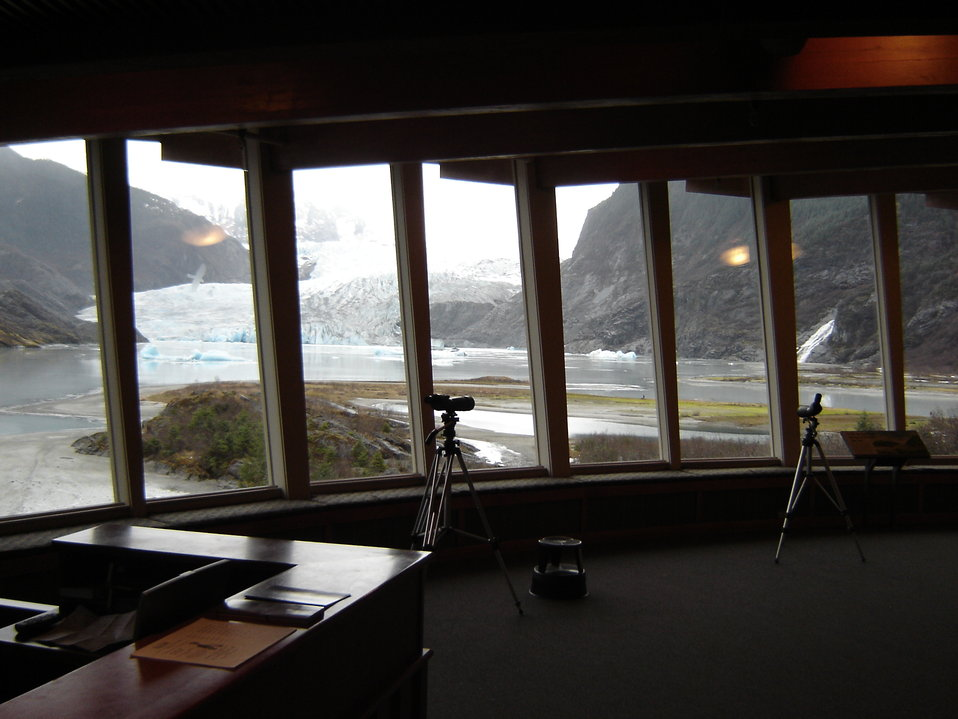Mendenhall Glacier from the Visitor's Center