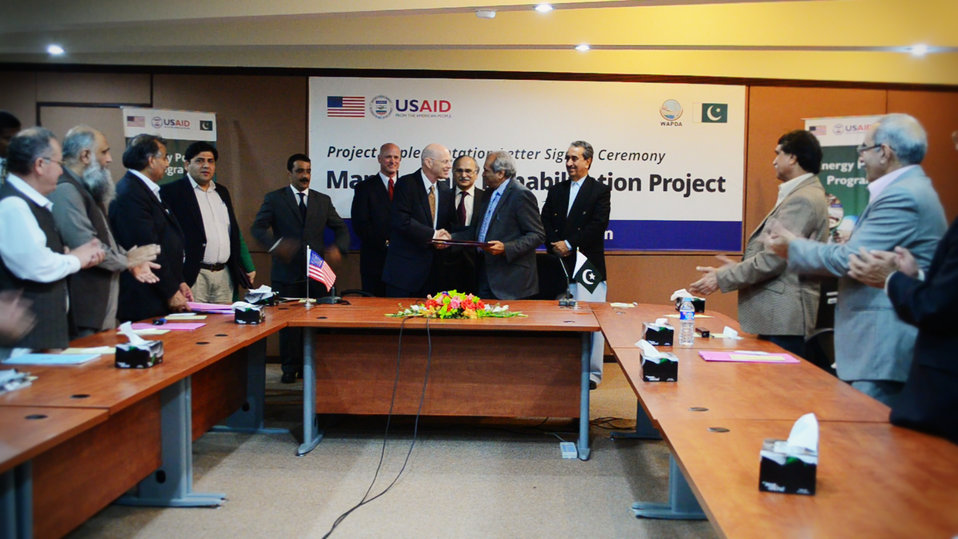 Exchange of signed agreement