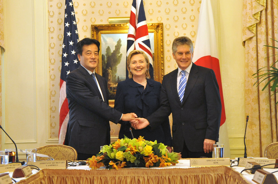 UNGA 2009: State Hillary Rodham Clinton Participates in a Trilateral Strategic Dialogue With Australia and Japan