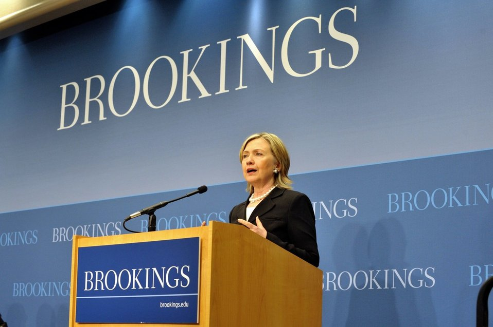 Secretary Clinton Delivers Remarks at the Brookings Institute