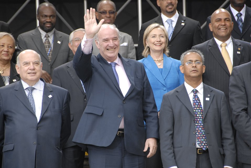 Secretary Clinton With OAS Ministers