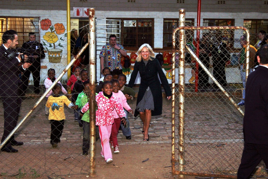 Dr. Jill Biden Plays With South African Children