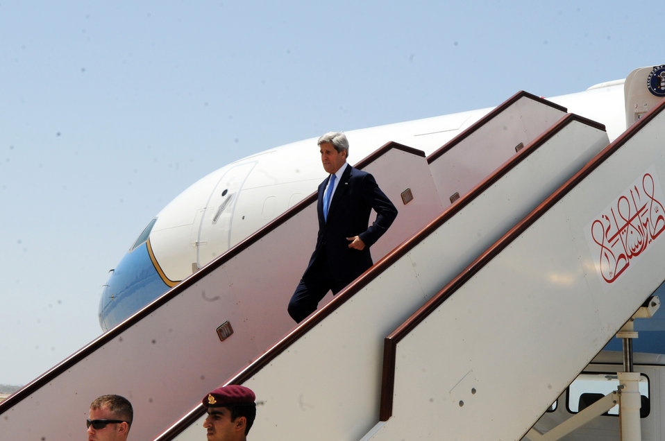 Secretary Kerry Arrives in Muscat, Oman