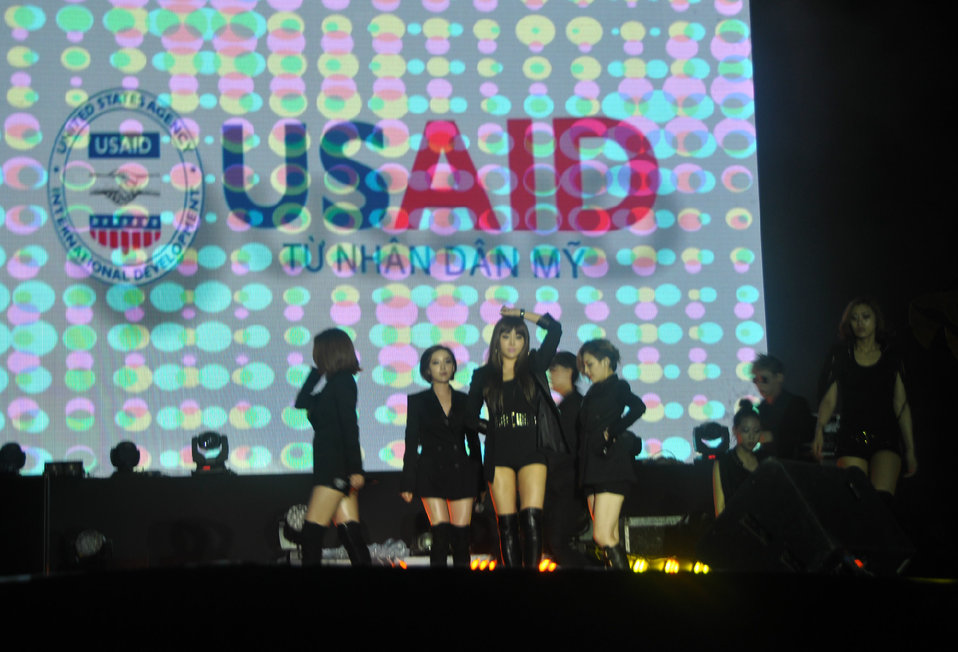 Korean Pop Group Brown Eyed Girls perform at MTV EXIT concert in Hanoi