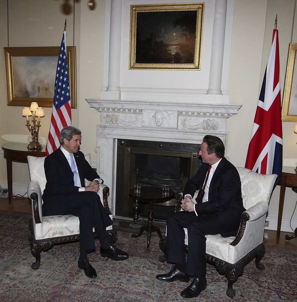 Secretary Kerry Meets With UK Prime Minister Cameron